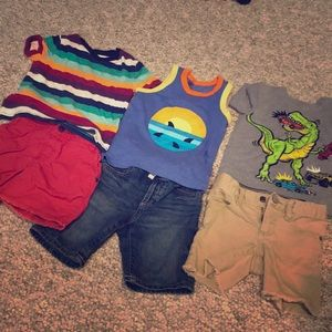 Boys 2T summer outfits tees and shorts